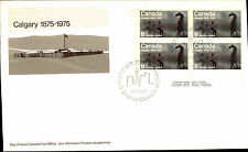 CANADA First Day of Issue Cover Brief FDC Stempel CALGARY 1975 8 Cent Block