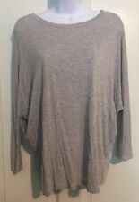 Vince Women's Size Extra Small Three-Quarter Sleeve Gray Shirt Blouse
