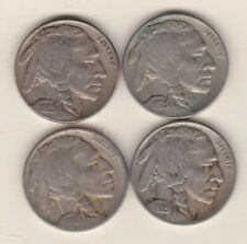 More details for four 1918/1925d/1928 & 1929s usa 5 cent nickels in good fine or better condition
