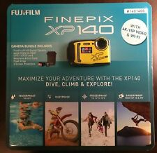 FUJIFILM FinePix XP140 Digital Camera blue/yellow7 Piece Bundle Brand New Sealed