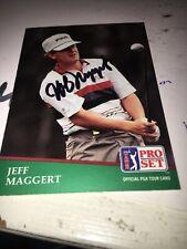 Jeff Maggert Signed 1991 Golf Card