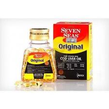 Seven Seas original Fish Cod Liver Oil - 100 Softgels / Pack of 12