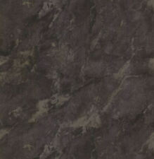 Faux Marble Wallpaper in Blacks & Taupe with Silver Highlights   KW7582