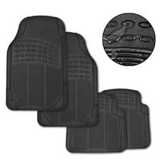 New Car Floor Mats Rubber 4pc Set Anti-skid and Wear-resistant 3.48 kg Black
