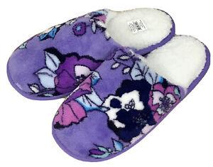 Vera Bradley Cozy Fleece Slippers in Enchanted Garden Size Medium