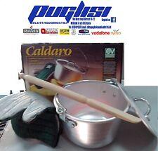 PENTOLA PAIOLO PER POLENTA VORTICE CALDARO CALDERONE IN ALLUMINIO PURO 24CM 4,5L