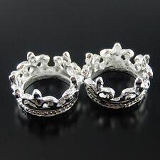 30pcs Vintage Silver Alloy Graceful Flower Crown 13*13mm Pendant Charms 37413