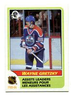 1986-87 OPC Wayne Gretzky Assist Leader Card #259 Edmonton Oilers