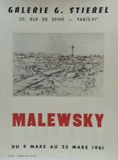 """""""MALEWSKY : EXPOSITION 1961 / TOUR EIFFEL"""" Affiche originale entoilée"""