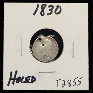 1830 H10c Capped Bust Silver Half Dime - Value Coin - SKU-T2855