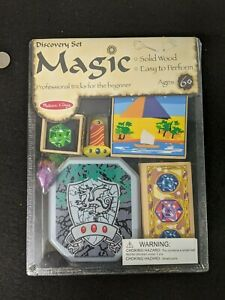 WOODEN MAGIC SET DISCOVERY - melissa and doug kid's children's Magician kit