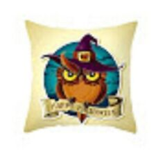 Retro Halloween owl cushion Sofa Plush Pillow Case Cushion Cover Home Decor