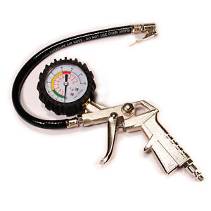 C1005 Pistol Style Tire Inflator with Dial Gauge and lock on chuck