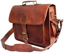 New Men's Leather Bag Business Messenger Laptop Shoulder Briefcase Handbag Brown