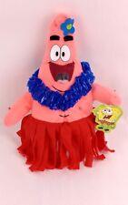 "Spongebob Plush Squarepants Stuffed Doll Toy Patrick Star Hula Skirt Hawaii 8"""
