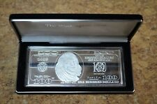 1998 Washington Mint Franklin $100 .999 Silver 4oz Bar w/ Case Free Shipping
