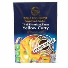 HOT Asian Thai Cuisine Yellow Curry Paste Mild Spicy Blue Elephant 70g X2 Packs