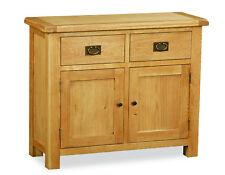 Oakvale Mini Sideboard / Small 2 Door 2 Drawer Cabinet / Cupboard