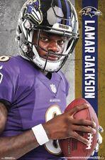 LAMAR JACKSON Baltimore Ravens Superstar 2018 NFL Football Official POSTER da3fe8e60