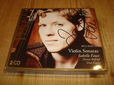 Isabelle Faust Bartók Violin Sonatas Harmonia Mundi 2cd New signed Neuf signé
