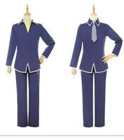 FRUITS BASKET Soma Kyo Soma Yuki Cosplay Costumes Blue Uniform Suit Pants
