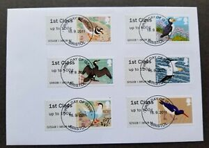 Britain Frama Label Birds 2011 Fauna (machine ATM stamp FDC) *rare