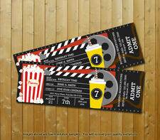 Movie Party Custom Movie Ticket Boys Printed Birthday Invitations 20 wEnvelopes