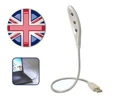 ✔ Portátil Led Flexible Usb Luz Lámpara Para Laptop, Notebook, Pc De Escritorio O Cualquier Usb