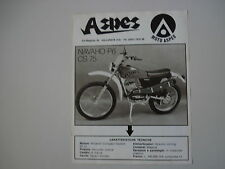 advertising Pubblicità 1975 MOTO ASPES NAVAHO 50 P6 CS