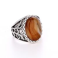 Men's/Women's Silver agate RING Fashion Jewelry Size Pick