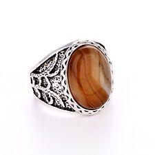 Men's/Women's Silver agate RING Fashion Jewelry Size Pick