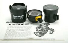 Subawider II 13-17mm Adapter (Wet Lens) w/Viewfinder & 35mm Nikonos Lens. Rare.