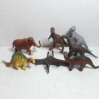 Vintage Dinosaurs Toys Plastic Figure Lot of 7 1988 1990 Funrise Mammoth