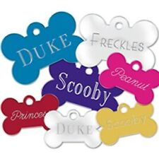 Pet Tag Dog & Puppy Cat Collar Name TAG - Personalised engraved Both Sides New