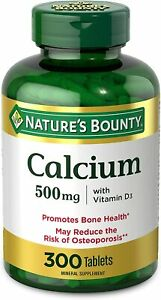Calcium & Vitamin D by Nature's Bounty, Immnue Support & Bone Health, 500mg...