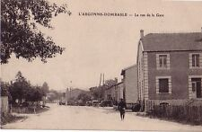 MEUSE - DOMBASLE EN ARGONNE - RUE DE LA GARE - CARTE NEUVE.