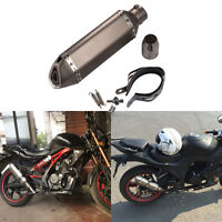 51mm Diameter Motorcycle Exhaust Muffler Pipe With Removable DB Killer, Brown