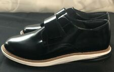 Cole Haan Womens Grand Evolution Black Patent Leather Oxfords w Strap Size 7C