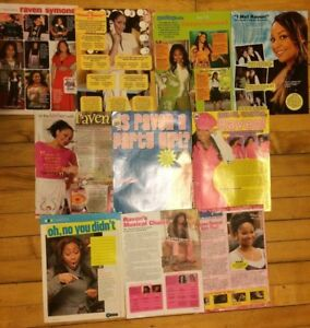 Raven Symone, Lot of TEN Full Page Clippings