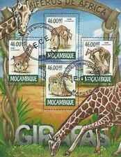 Timbres Animaux Girafes Mozambique 6546/9 o année 2015 lot 19542 - cote : 17 €