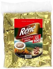 Philips Senseo 100 x Café Rene Crème Ethiopa 100% Arabica Coffee Pads Bags Pods