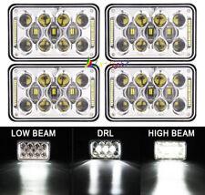 "60W 4x6"" LED Sealed Beam Rectangle Headlight Replace H4651 H4652 H4656 Kenworth"