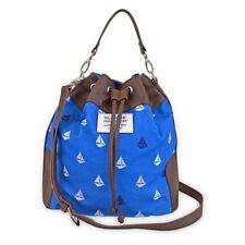 Sloane Ranger Bucket Bag Purse Nautical Print Sailboat Sailing Blue New