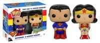 Superman - Superman & Wonder Woman Salt & Pepper Shakers-FUN9765