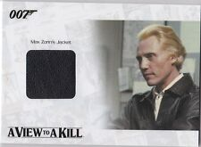 JAMES BOND 2014 ARCHIVES JBR33 CHRISTOPHER WALKEN JACKET MAX ZORIN RELIC /400