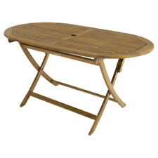 Charles Bentley Furniture Table Made of FSC Acacia Wood - Oval - Folding