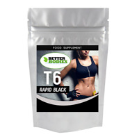 T6 Rapid Black Super STRONG Fat Burners Weight Loss Diet Slimming Pills Capsules