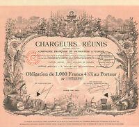 Chargeurs Reunis SA, Compagnie de Navigation a Vapeur, obligacion, Paris, 1930