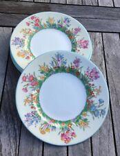 "New ListingWedgwood Prairie Flowers 4 Salad Plates Each Plate - 8"" Vgc"