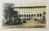 Vintage San Diego California CA RPPC Army and Navy YMCA Building Old Cars